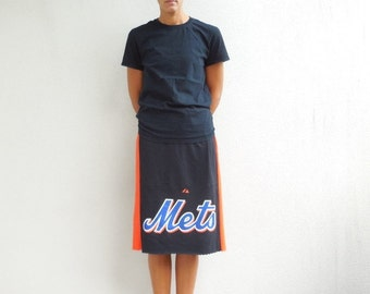 Mets TShirt Skirt New York Mets Tee Skirt Womens Clothing Ecofriendly Soft Repurposed Tees Cotton Handmade Gift for Her Spring Training