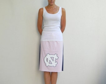 143bd711b North Carolina University T Shirt Skirt NC Tar Heels Womens Clothing  Recycled Tees Handmade Cotton Team Spirit Sports ohzie