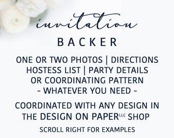 Invitation Card Backer