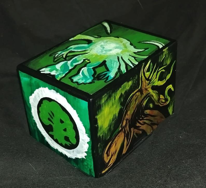 Mtg Deck Box Custom Design Hand Painted Magic The Etsy