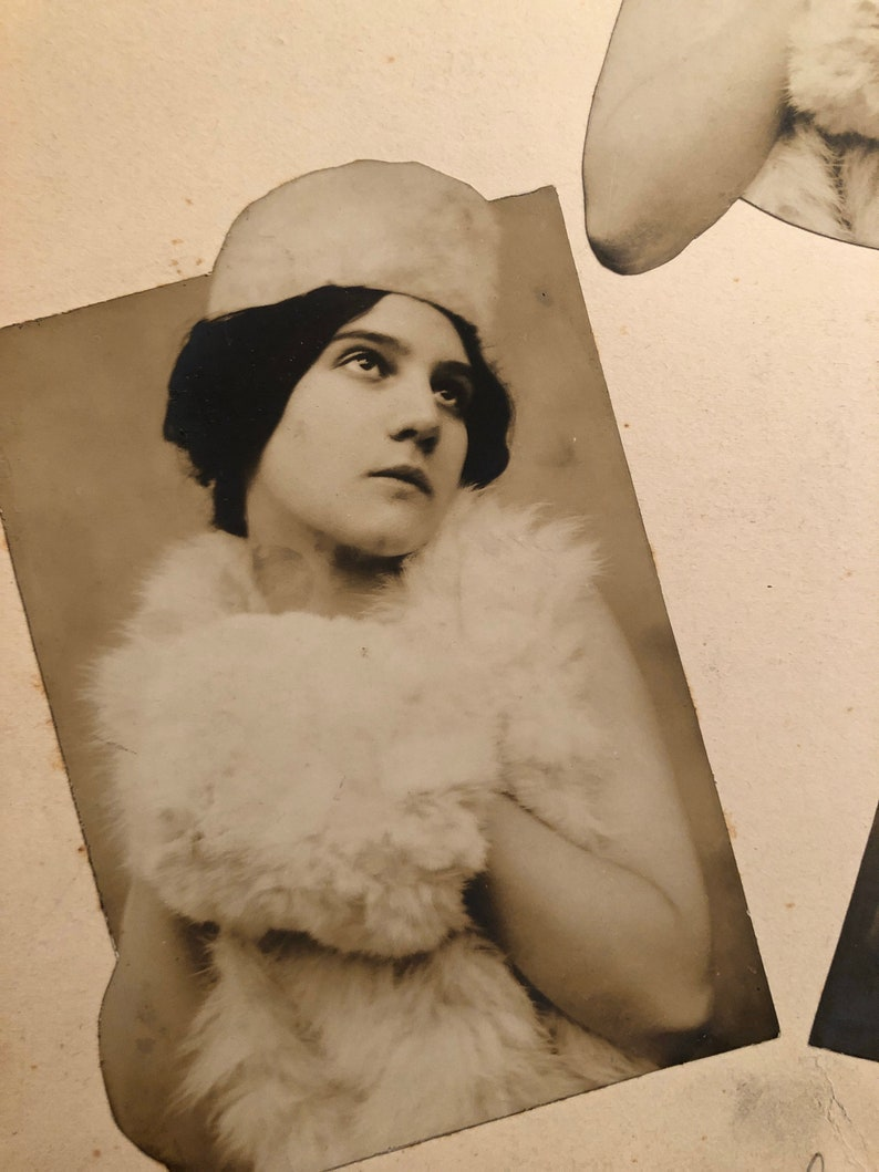 Lovely French Antique Silver Gelatin Original Photo Montage Collage French Actress Circa 1900