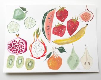 Assorted Fruit (original painting)