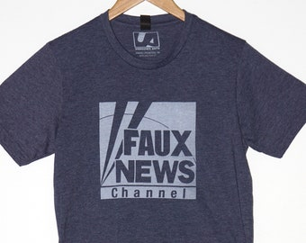 Faux Fake News Heather Navy T Shirt Vote 2020 Election