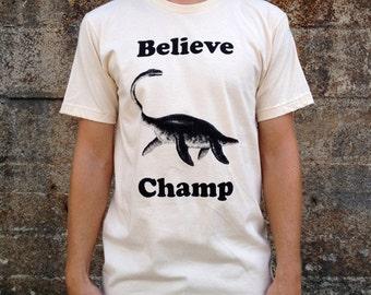 Believe Champ T-shirt, Men's American Apparel Natural Cream Tee