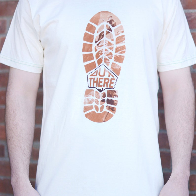 Out There T-shirt Men's / Unisex American Apparel Natural image 0