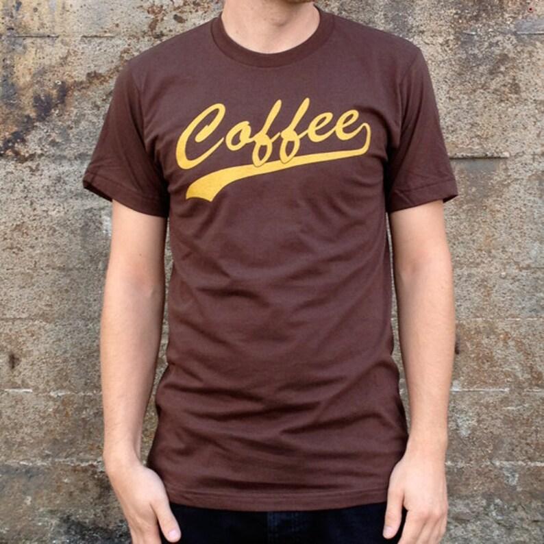 Coffee Breakfast T-shirt Men's American Apparel Brown Tee image 0