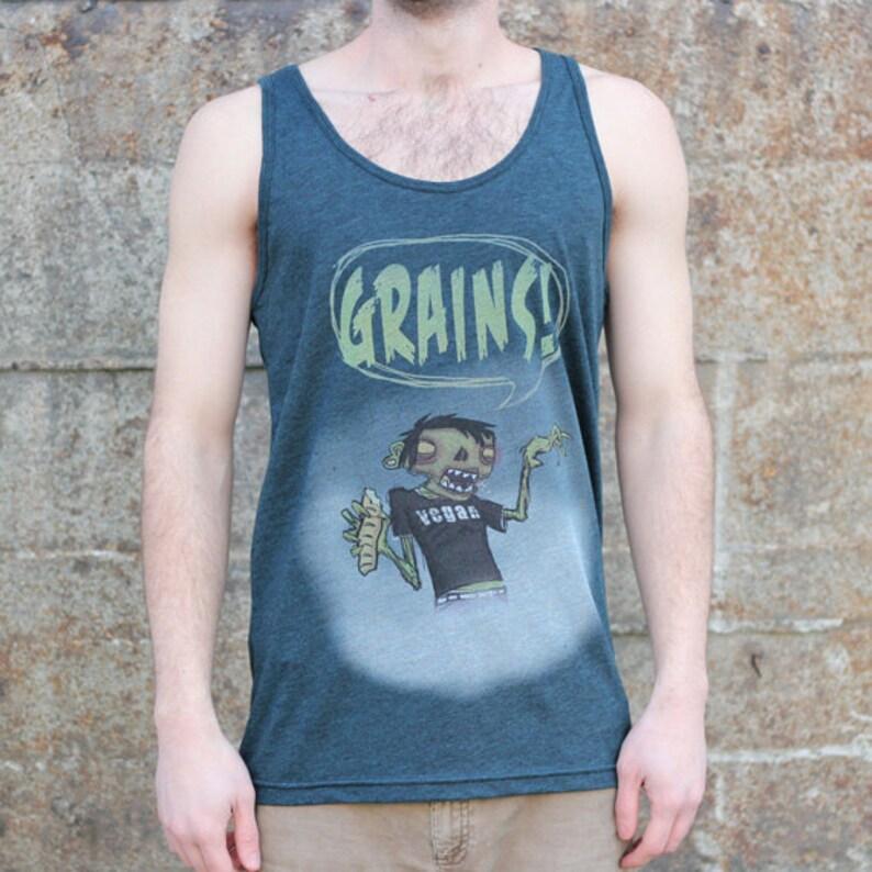 Vegan Zombie Grains Tank Top Men's American Apparel image 0
