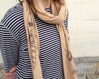 Feather Scarf, American Apparel Natural Tan