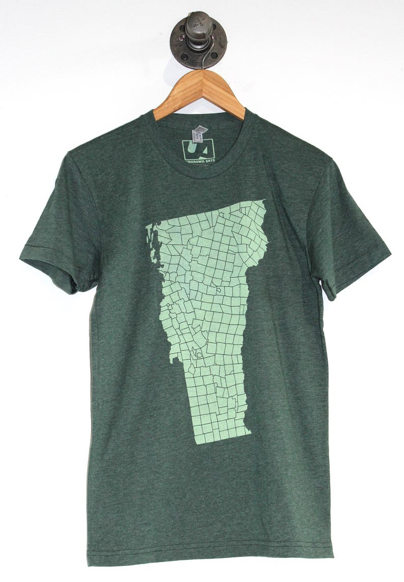 Vermont VT Towns T-shirt Men's American Apparel Heather image 0