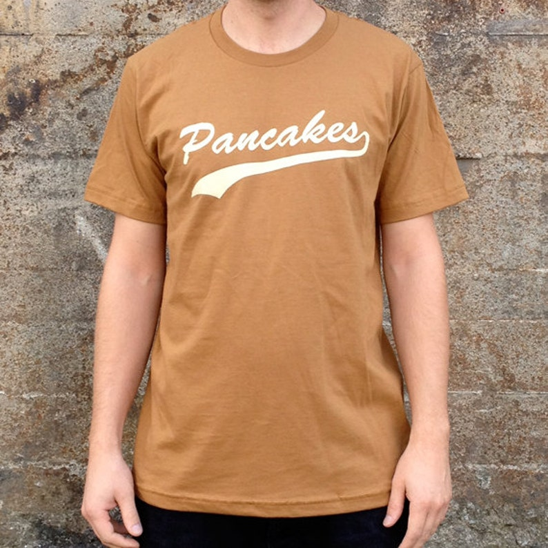 Pancakes Breakfast T-shirt Men's American Apparel Brown image 0