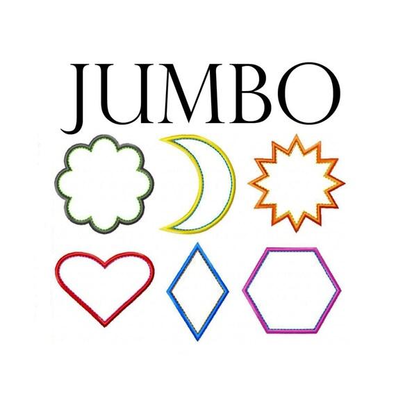 Más apliques JUMBO máquina bordado diseño patrones de corazón | Etsy
