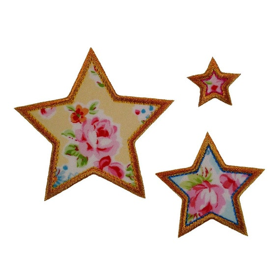 Viendo estrellas apliques máquina de bordar diseños apliques | Etsy
