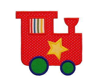 """Toy Train Appliques Machine Embroidery Applique Design Pattern in 4 sizes 3"""", 4"""", 5"""" and 6"""""""