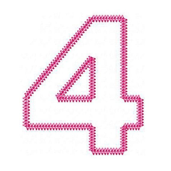 Bonito apliques números máquina diseños apliques patrones de | Etsy