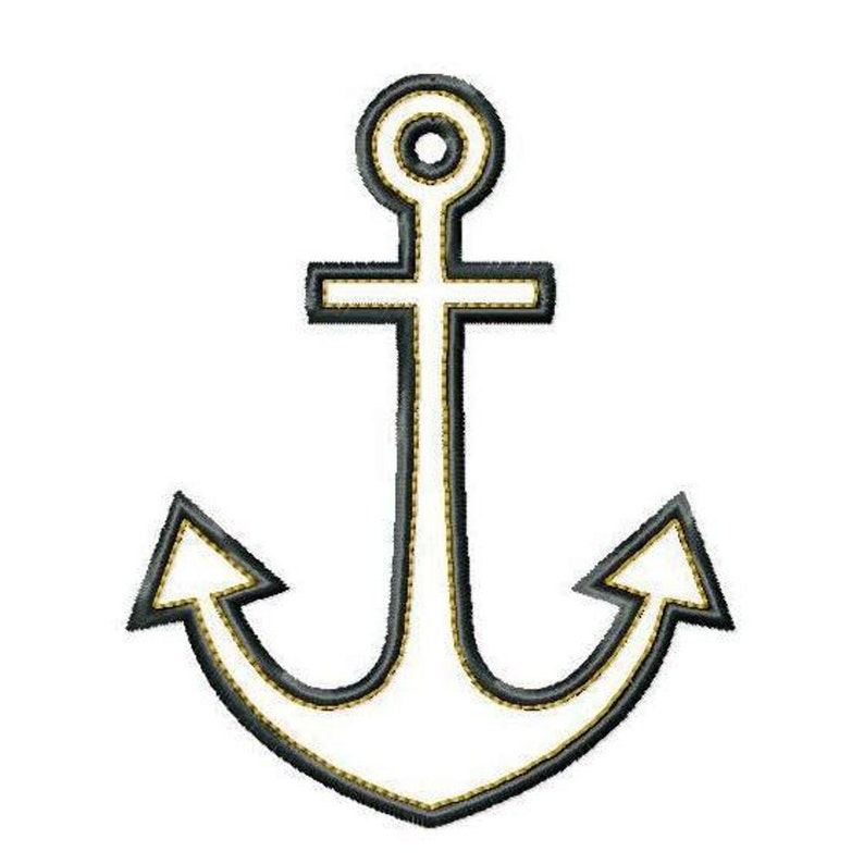 Anchors Aweigh Appliques Machine Embroidery Designs Applique Pattern in 4 sizes 4 6 and 7 5