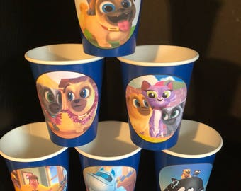 12 Puppy Pals Birthday Party Paper Cups | 9 ounces