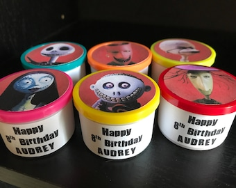 8 The Nightmare Before Christmas Birthday Party Favor Gift Play Dough