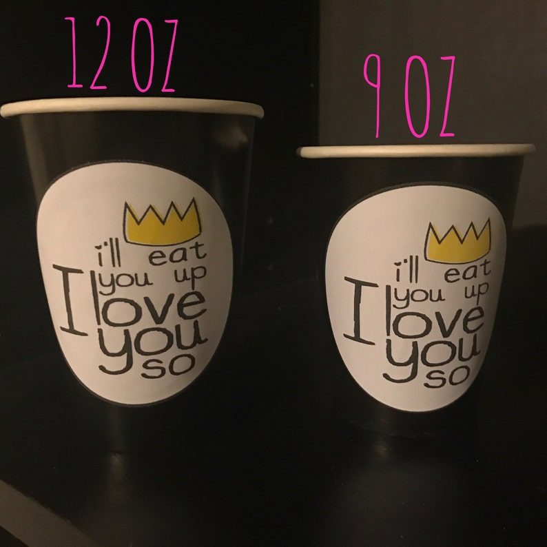 Wild Beast 40 Where the Wild Things Are Max Birthday Party Cups 12 Ounce
