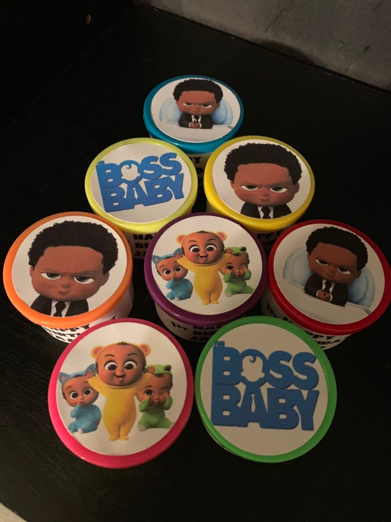 24 African American Black Boss Baby Birthday Party Favor Gift Toy