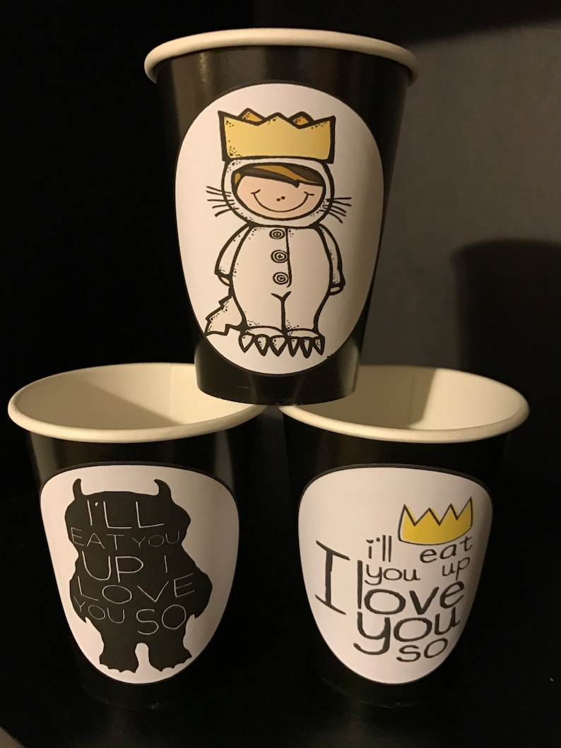 Wild Beast Birthday Party Cups 9 Ounces 12 Where the Wild Things Are
