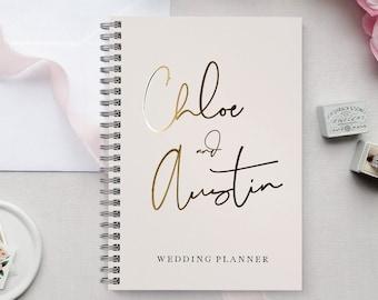 Blush Watercolor Wedding Planner Book, Custom Wedding Planner Book, Personalized Wedding Planner, Wedding Planner