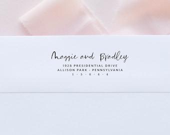 Calligraphy Return Address Stamp, Return Address Self Inking Stamp Address Self Ink, Return Address Stamp Self-Inking, handwriting gift