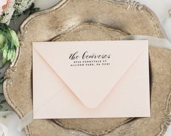 self inking return address stamp wedding invitation stamp etsy