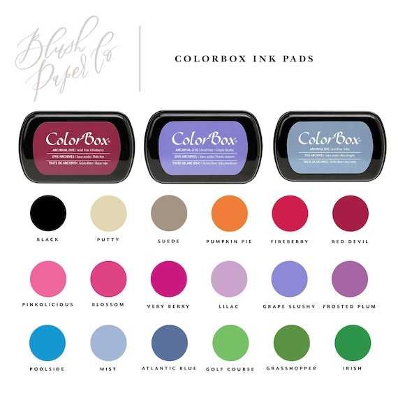 Colorbox Archival Ink Dye Stamp Pad Permanent Rubber