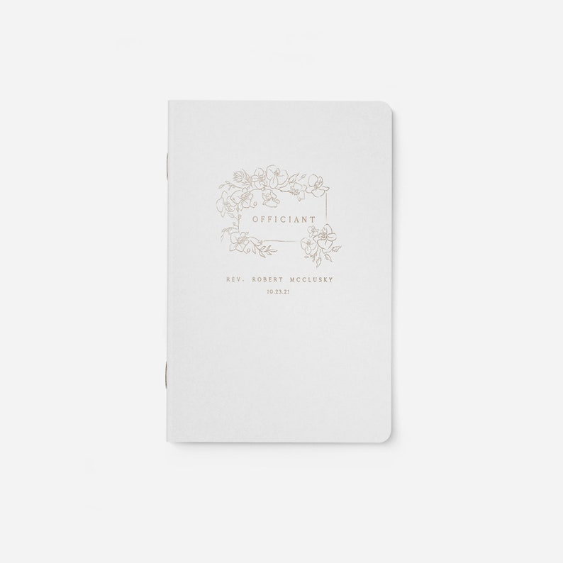 Personalized Wedding Officiant Book Officiant Gift Officiant image 0