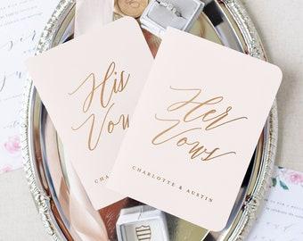 Wedding Vow Book Wedding Vow Books Gold Foil Vow Books Personalized Vow Books Marriage Vow Books Gold Foil Vow Booklet Personalized Vows
