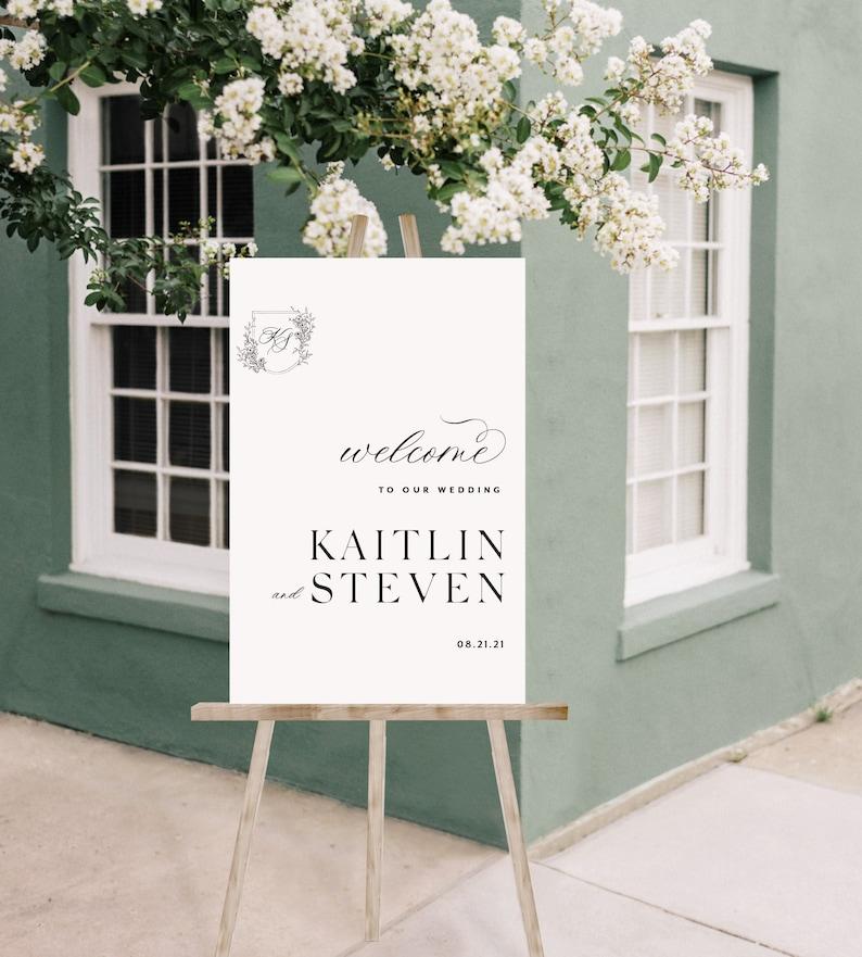 Custom Welcome Wedding Sign Personalized Wedding Welcome image 0