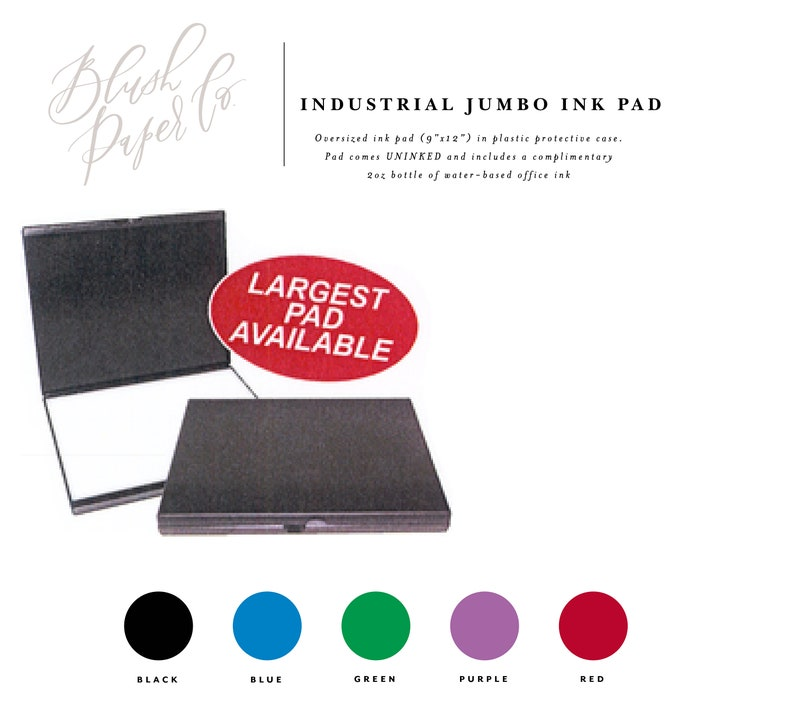 Industrial Jumbo Ink Pads Oversized Stamp Pad Large