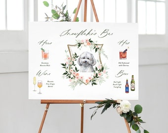 Pet Signature Drink Sign, Signature Drink Canvas, Pet Signature Cocktails Sign, Drink Bar Menu, Pet Wedding Bar Menu, Wedding Bar Sign