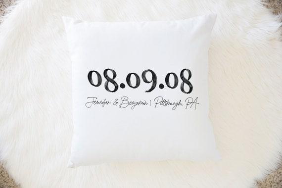 Wedding Pillow, Anniversary Gift Anniversary Pillow Family Name  Pillow Family Pillow Wedding Gift