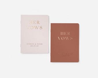 Wedding Vow Books, Gold Foil on White Vow Books, Personalized Wedding Vow Books, White Gold Wedding Vows, Customized Vow Books Foil Vow Book