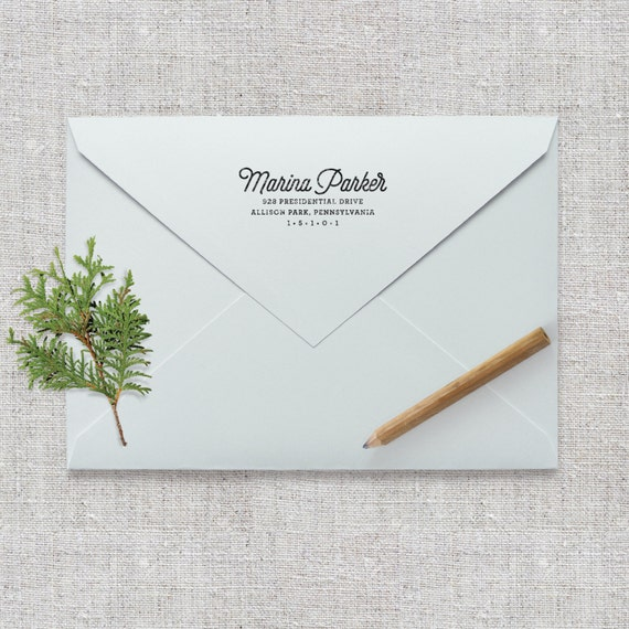 Self Inking Return Address Stamp / Wedding Invitation