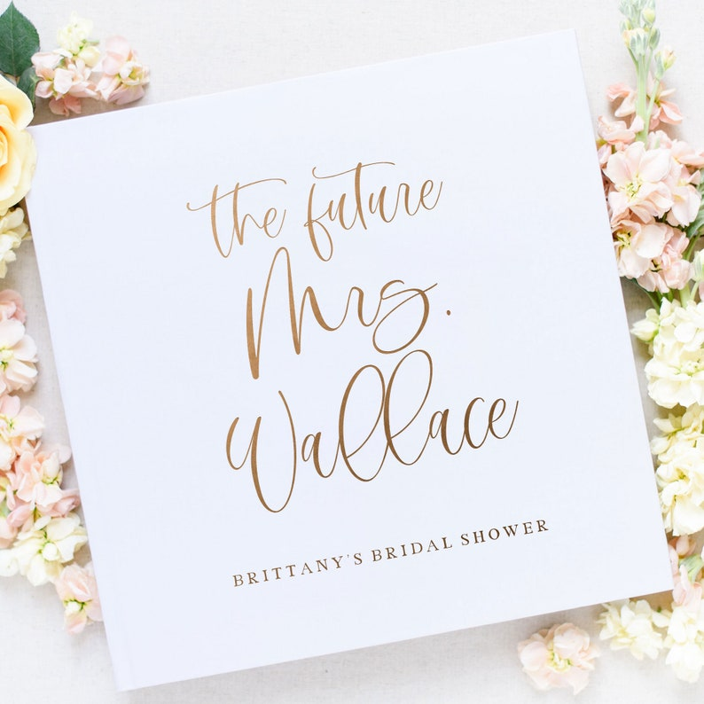 Bridal Shower Wedding Guest Book Future Mrs. Guest Book image 0