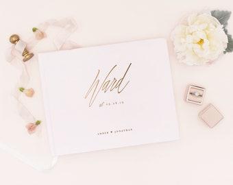 Silver Foil Wedding Guest Book Wedding Guestbook, Custom Guest Book, Personalized Guest Book, Wedding Guest Book, Foil Guest Book