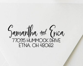 Return Address Stamp, Address Stamp, Custom Address Stamp, Self Ink Address Stamp, Calligraphy Address Stamp, Wedding Address Stamp (20512)