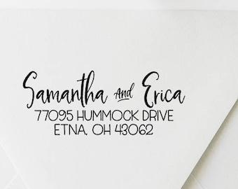 Return Address Stamp, Address Stamp, Custom Address Stamp, Self Ink Address Stamp, Calligraphy Address Stamp, Wedding Address Stamp (20512)