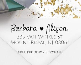 Address Stamp, Return Address Stamp, Wedding Stamp,  Wooden Handle or Self Inking Address Stamp. Custom Return Address Stamp  20541