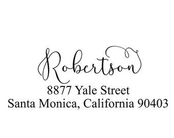 Address Stamp, Return Address, Custom Address Stamp, Personalized Stamp, Self Inking Stamp, Wood Handle Stamp, Calligraphy Stamp (20562)
