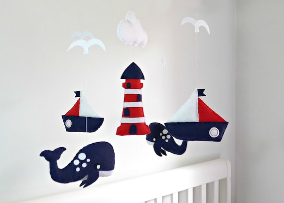 DIY Nautical Nursery crib mobile