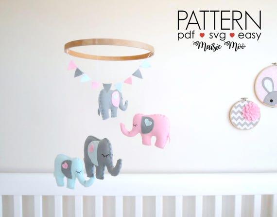 DIY Elephant baby mobile