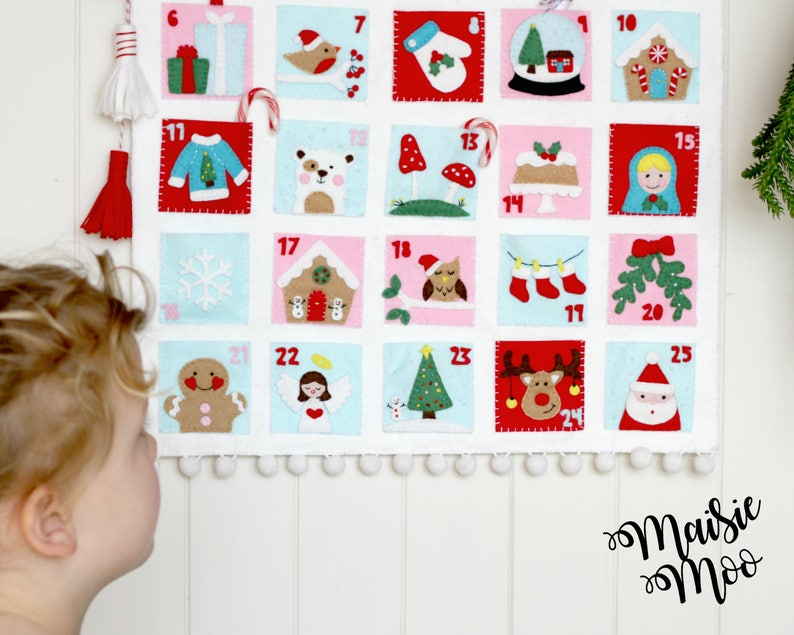 Christmas Advent Calendar Pattern Christmas Countdown image 0