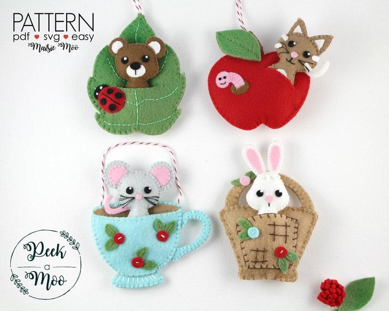 Felt Ornaments Patterns Felt Patterns Pocket Ornament Pdf Patterns