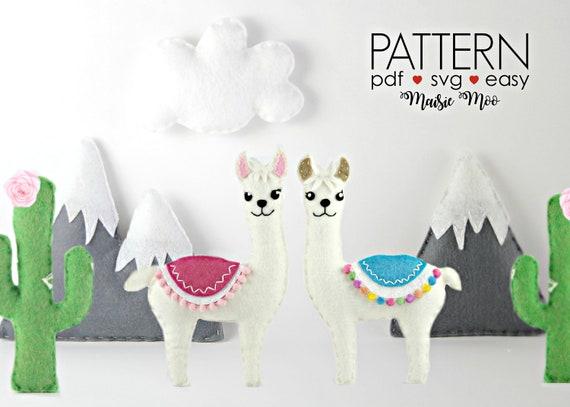 DIY Llama Crib Mobile