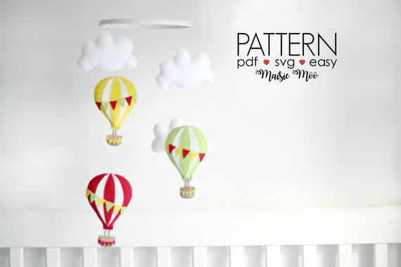 DIY Hot Air Balloon crib mobile