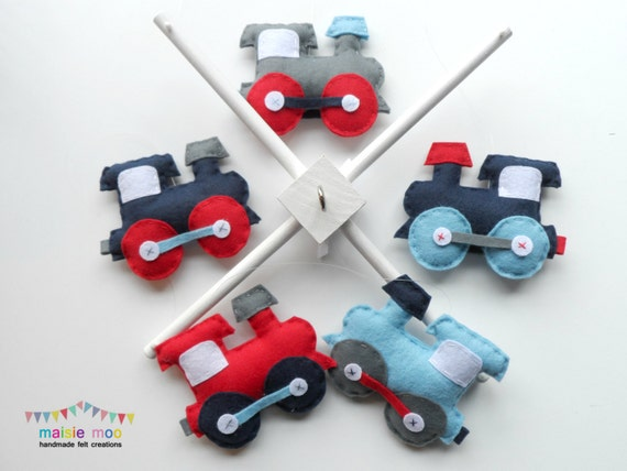 DIY felt train crib mobile