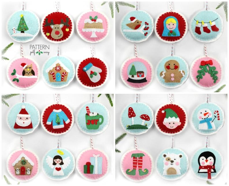 Felt Ornaments Pattern Christmas Ornament Felt Pattern Diy Christmas Felt Bauble Pattern Advent Ornaments Christmas Applique Pattern